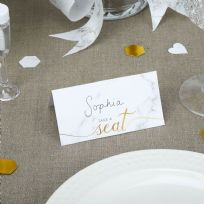 Scripted Marble Place Cards (25)